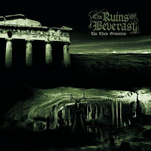 Das Cover zeigt einen Tempel, eine Höhle und einen Dämon mit Hirschgeweih.