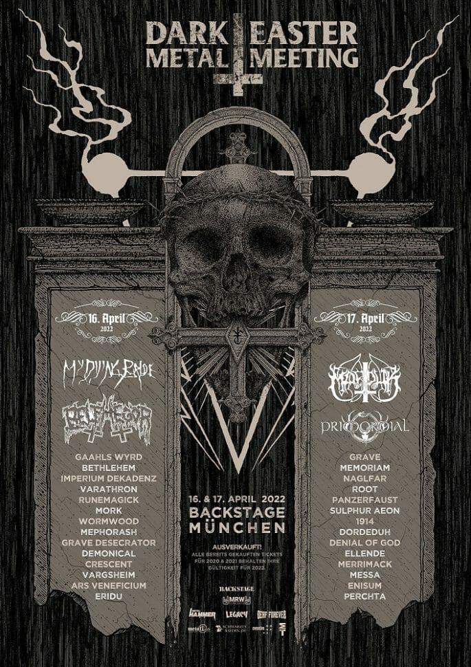 Plakat des Dark Easter Metal Meeting 2022