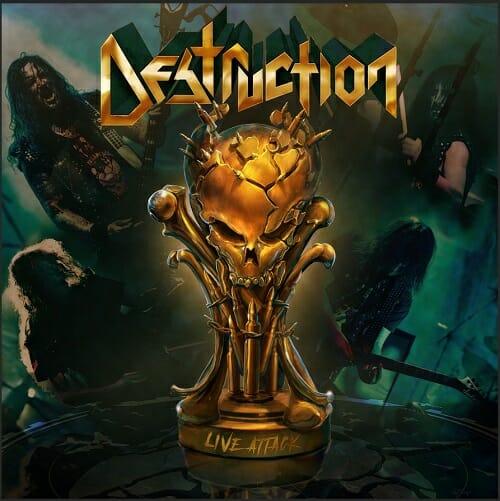 """Das Cover von """"Live Attack"""" von Destruction"""
