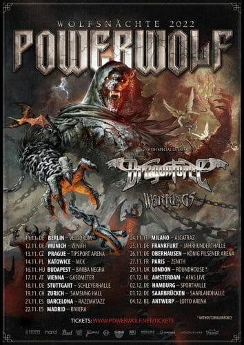 Powerwolf Wolfsnächste-Tour 2022