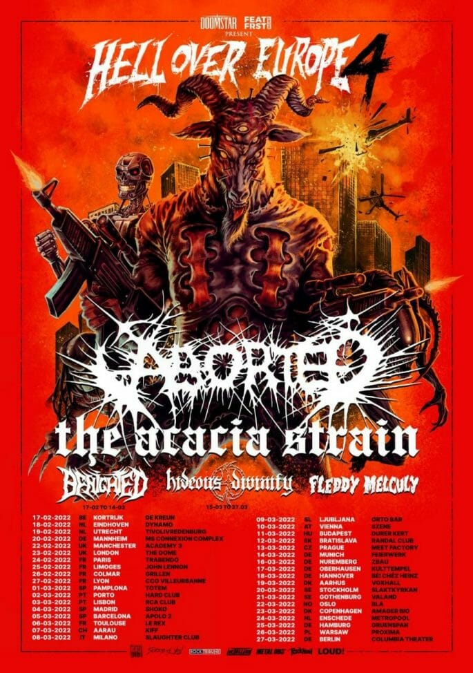 Aborted Tour 2022 Plakat