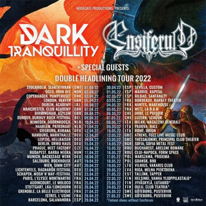 Dark Tranquillity Ensiferum Tour 2022