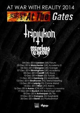 at the gates tour 2014