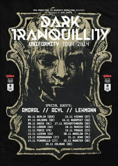 dar tranquillity tour flyer
